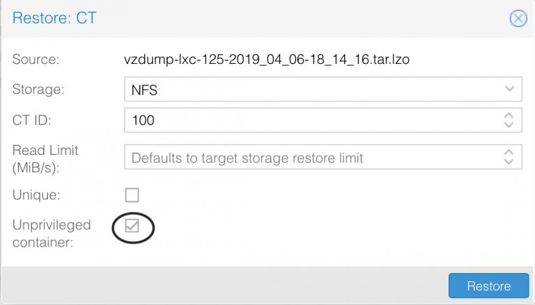 , Resolving container restore issues in Proxmox VE, Magnum IT, Magnum IT